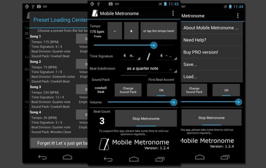 Apps für Drummer: Mobile Metronome
